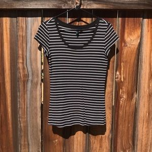 Cynthia Rowley | B&W Striped Short Sleeve Tee